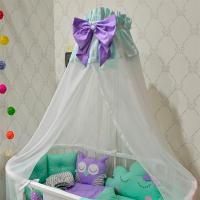 Балдахин МАМА на кроватку новорожденного