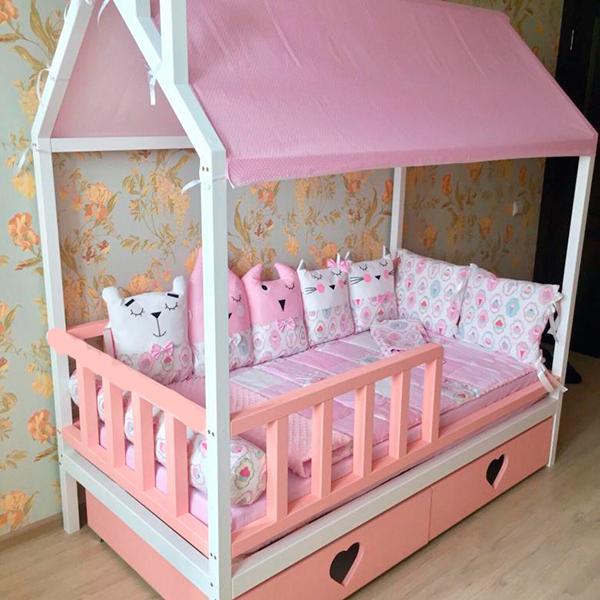 Крыша из ткани МАМА для кровати-домик