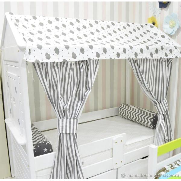 Занавески МАМА для кровати-домикa