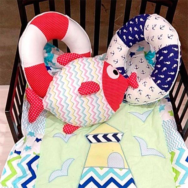 Игрушка-подушка МАМА в виде рыбки