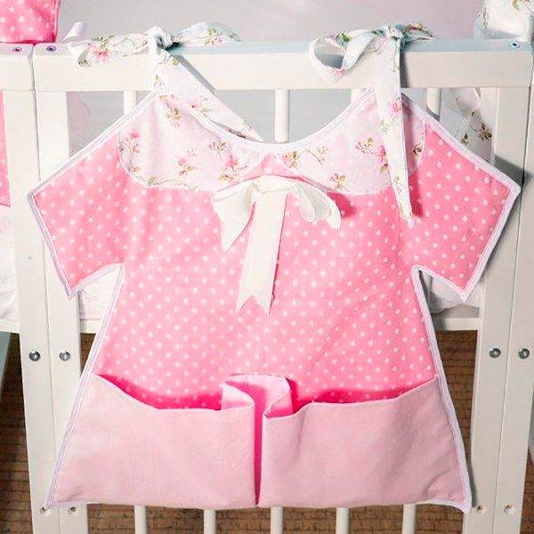 Карманчики МАМА на платье для детских кроваток