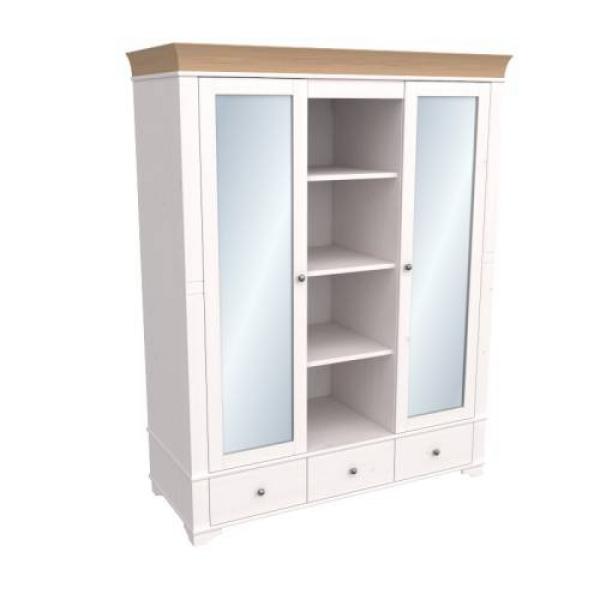 Шкаф из коллекции «Бейли» (две зеркальные двери с нишей по середине)