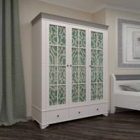 Шкаф из коллекции «Бейли» (c тремя стеклянными дверьми)
