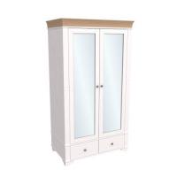 Шкаф из коллекции «Бейли» (2 двери с зеркалами)