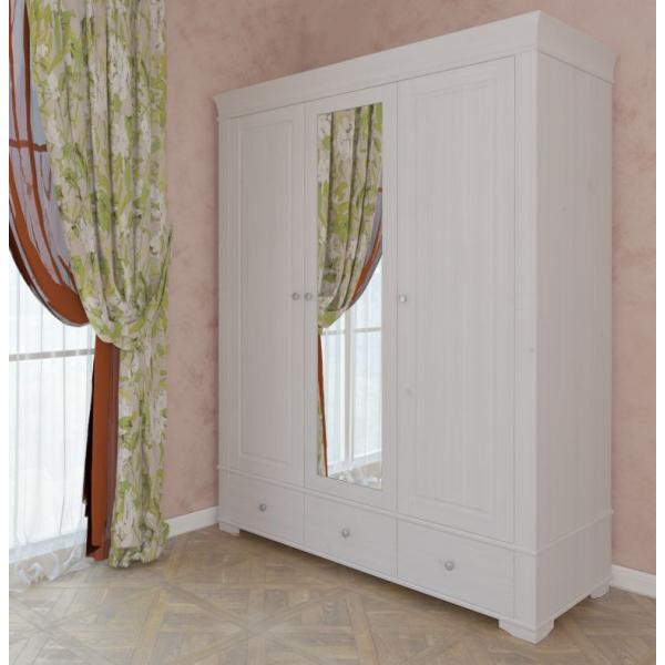 Шкаф из коллекции «Бейли» (3-x дверый с зеркалом)