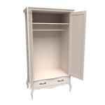 Шкаф из коллекции «Лебо» (2 двери с зеркалом и 1 ящик)