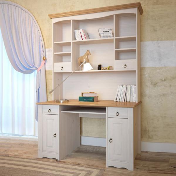 Письменный стол из коллекции «Милано» (с возможностью надстройки)