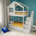 Детская двухъярусная кровать-домик Таллин-2 СЛК