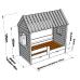 Детская кровать-домик Теремок-2