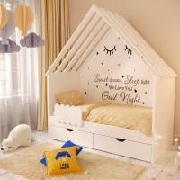 Детская кровать в виде домика Little home-2