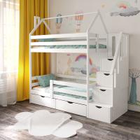 Детская двухъярусная кровать Домик СЛК ЭКО