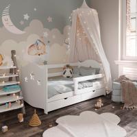 Детская кровать Даббо-звёздочки (Белый, 900х1800, СПб)