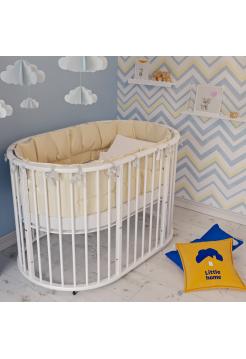 Круглая (овальная) детская кроватка-трансформер «Dolly» (Долли)