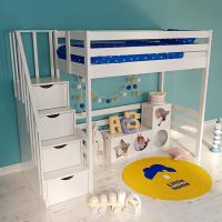Детская кровать-чердак «Лахти 2.0» с лестницей-комодом