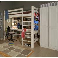 Детская кровать-чердак «Лахти» с рабочей зоной (Вариант №1)