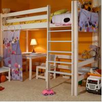 Кровать-чердак «Лахти» с рабочей зоной (вариант №2)