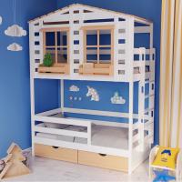 Детская 2-ярусная кровать домик Бильбао-2