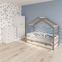 Детская кровать домик Гудвин Кросс Вуд