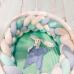 Косичка бортик МАМА в кроватку (4 рядная)