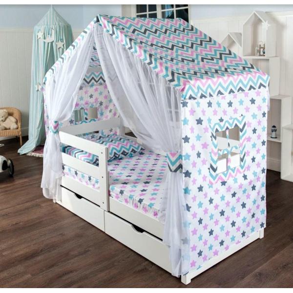Шатер МАМА для кровати домика-2