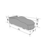 Кроватка-машина Ауди-А4 белая (серия UNO)