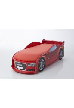 Кроватка-машина Ауди-А4 красная (серия UNO)