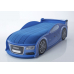 Кроватка-машина Ауди-А4 синяя (серия UNO)