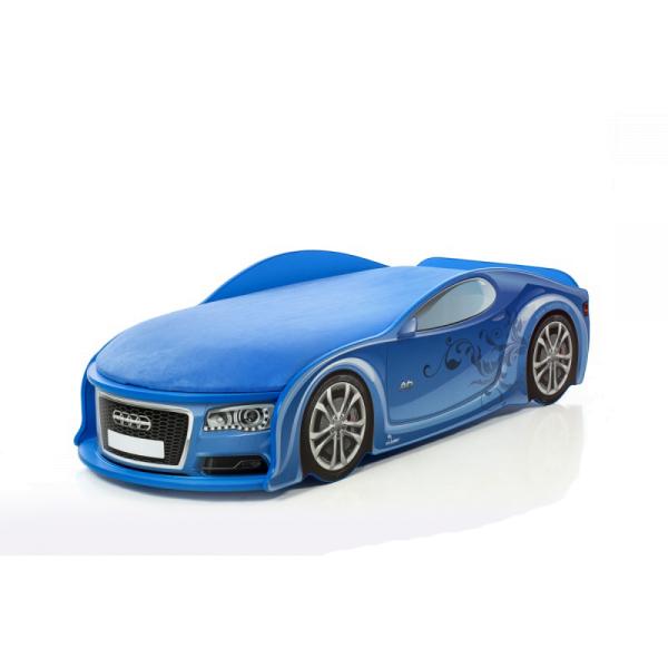Кровать-машина Ауди-А6 синяя (серия UNO)