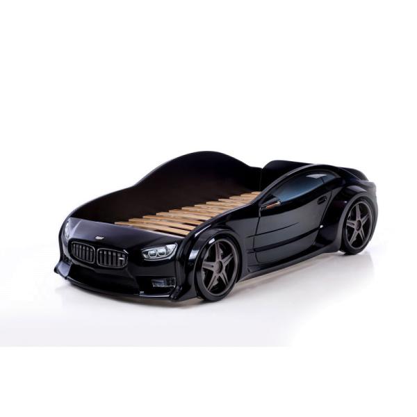 Кровать машина бмв (EVO 3d) черного цвета