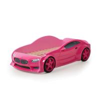 Розовая кровать машина БМВ (EVO 3d) для девочек