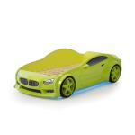 Кровать машина зеленая марки БМВ (EVO 3d)