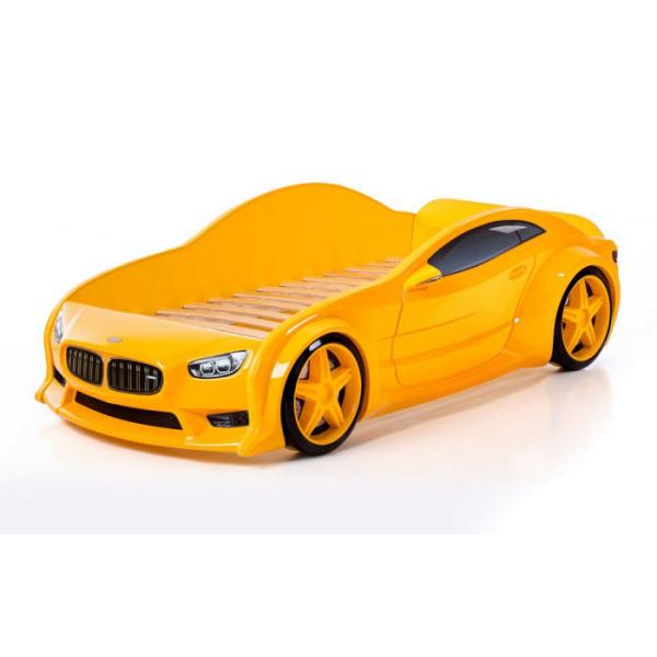 Кровать машина марки «БМВ» желтая (EVO 3d)
