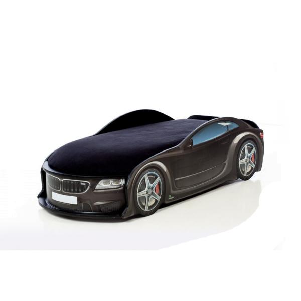 Кровать-машина БМВ-М черная (серия UNO)