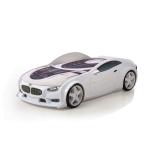 Кровать-машина БМВ (серия NEO 3d объемная) - белая