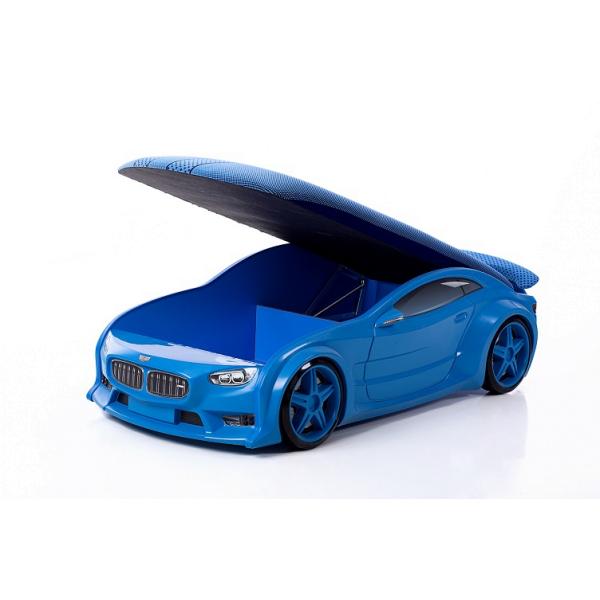Кровать-машина БМВ (серия NEO 3d объемная) - синяя