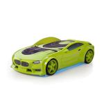 Кровать-машина БМВ зеленая (серия NEO 3d объемная )
