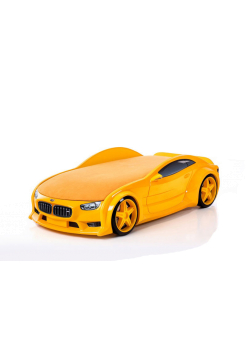 Желтая кровать-машина БМВ (серия NEO 3d объемная)