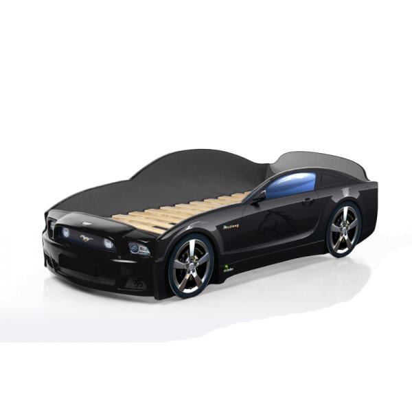 Кровать-машина Мустанг черная (PLUS)