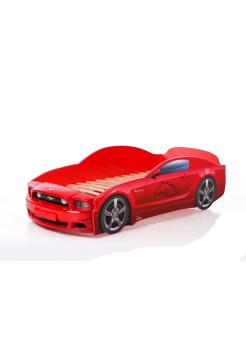 Кровать-машина Мустанг красная (PLUS)