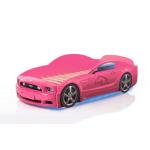 Кровать-машина Мустанг розовая (PLUS)