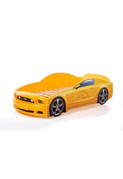 Кровать-машина Мустанг желтая (PLUS)