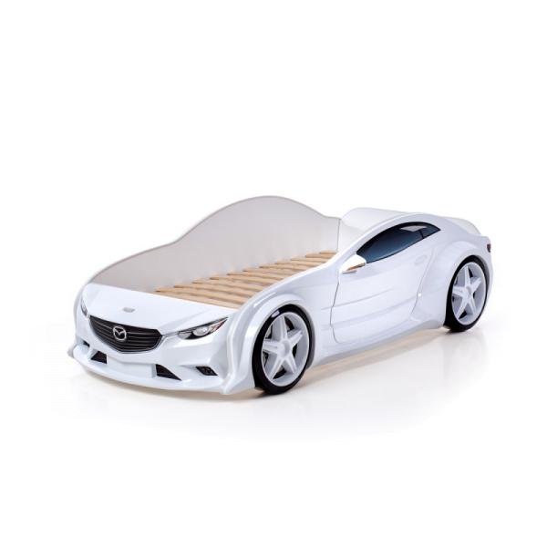 Кровать машина Мазда белая (evo 3d)