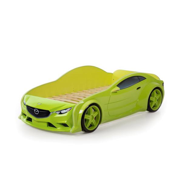 Кровать машина Мазда зеленая (evo 3d)