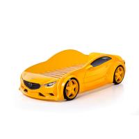 Кровать машина Мазда (evo 3d) желтого цвета
