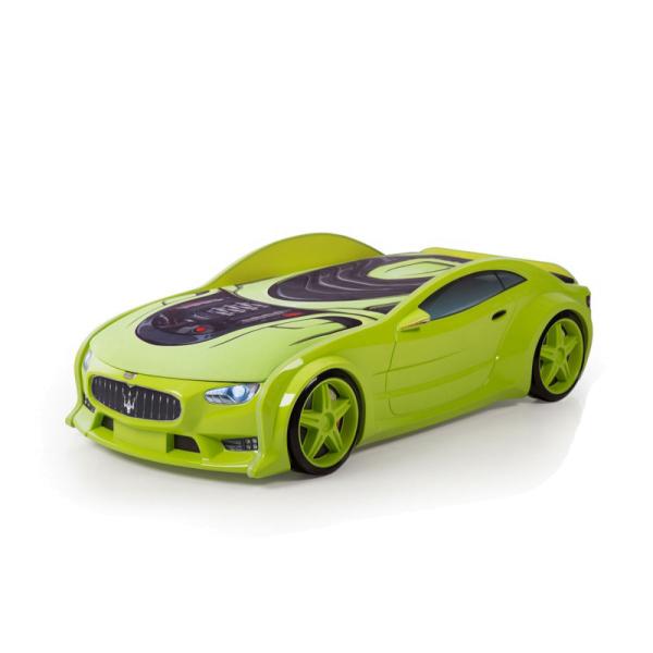 Кровать-машина Мазерати зеленая (серия NEO 3d объемная )