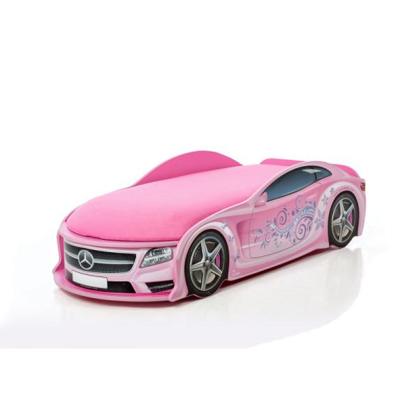 Кровать-машина Мерседес-М розовая (серия UNO)