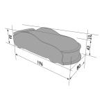 Кровать-машина Мерседес-М черный (серия UNO)