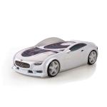 Кровать-машина Мерседес белый (серия NEO 3d объемная)
