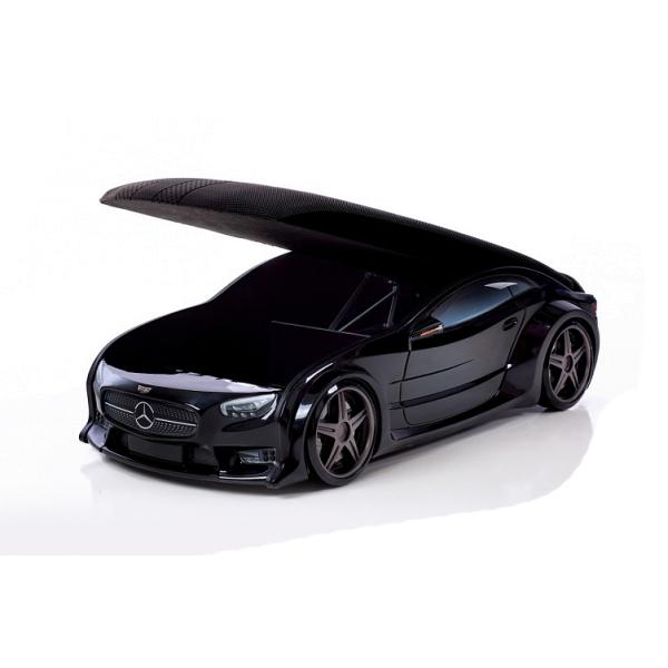 Кровать-машина Мерседес черная (серия NEO 3d объемная)