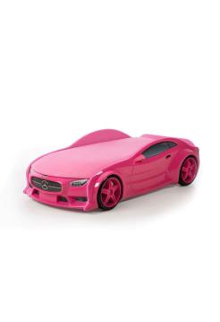 Кровать машина розовая марки «Мерседес» (NEO 3d)